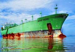 LPG Carrier: MT Berge Racine ... The last voyage (i|z|a|d's) Tags: bw reflection ship mt vessel berge explore anchorage worldwide lpg care scrap brunei carrier racine labuan asset wilhelmsen bergessen
