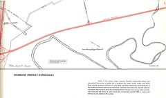 Shoreline Freeway-Expressway (Highway 61, 1959) (Eric Fischer) Tags: map plan freeway alamedacounty