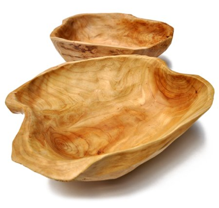 Emerald Fish Wood Bowls