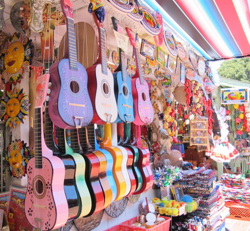 Colorful Guitars on Olvera St.