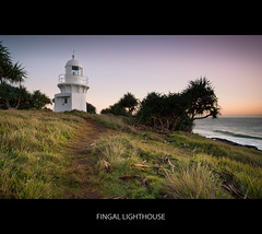 Fingal Lighthouse (itsgottabered) Tags: ocean sea sky lighthouse beach water sunrise canon palms photography dawn rocks waves ngc australia paths 1740mm fingal hitechfilters 5dmkii fingallighthouse
