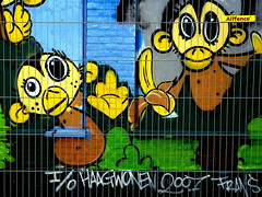 Monkies behind bars by Akbar Sim (voorheen Meneer de Braker)