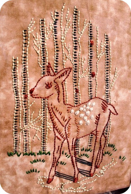 Birch Tree Deer