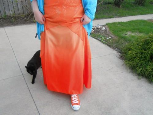 orange black cat dress turquoise prom converse claudia chucks