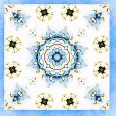 blue angel love 3 (SueO'Kieffe) Tags: nature digital photoshop patterns kaleidoscope mandala spirituality