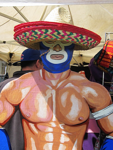 Mexican Wrestler with Hat Decor