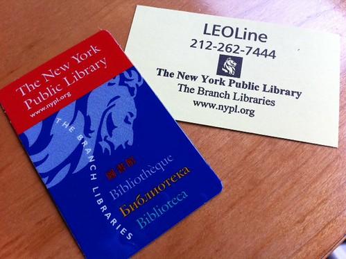 I have a NY Public Library Card, woohoo!