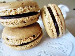coffee macarons (-l.i.l.l.i.a.n-) Tags: food french dessert sweet chocolate ganache macaroon doily macaron