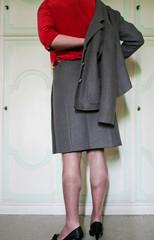 (ClaudiaCD) Tags: feet grey pumps suit heels heel crossdresser piedi scarpe tacco completo tacchi tailleur dcolletes