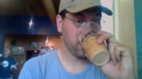 Iced coffee at B-24's.