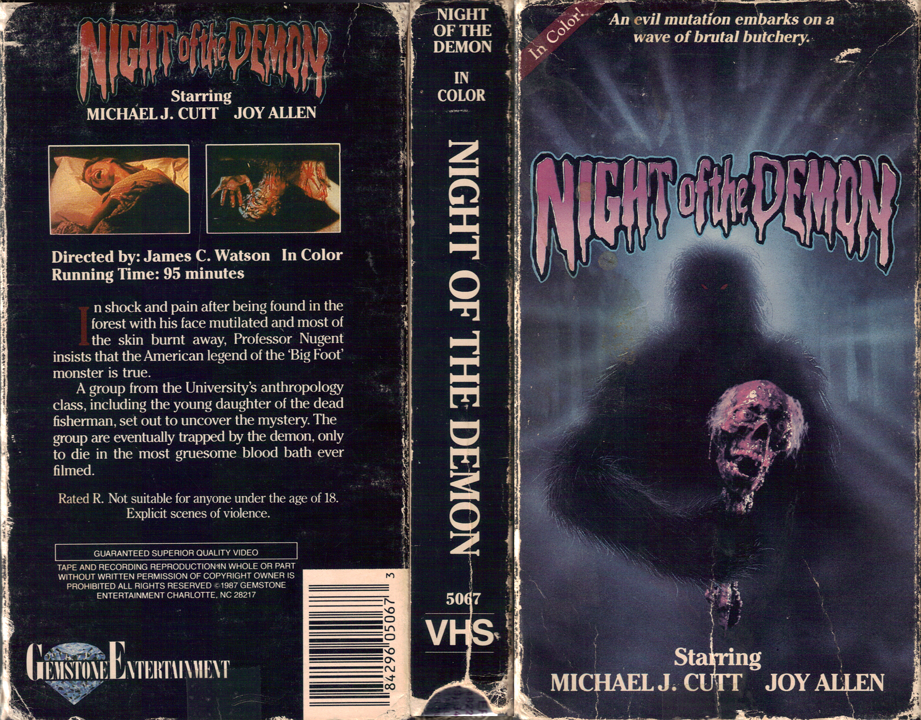 MONSTER BRAINS: Hideous Rampage Of The Grotesque VHS Box ...