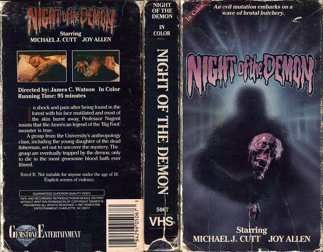 Night Of The Demon (VHS Box Art)
