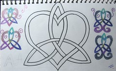 Celtic knot sketches