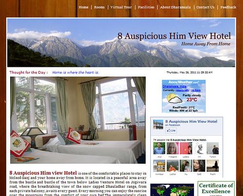 Website Of The Week 8 Auspicious Him View Hotel