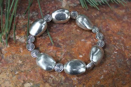 Silver Spiral Bracelet