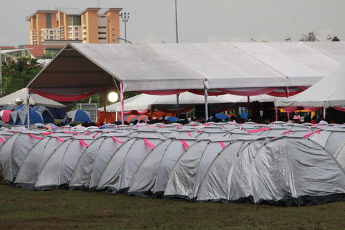 lots of tents at Pink Village