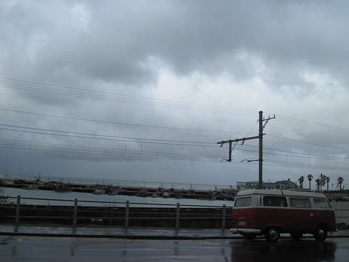 VW Van and Rain in Kalk Bay