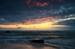 Bakenberg (Dietrich Bojko Photographie) Tags: sunset seascape color landscape evening colorful mood lee filters rgen dietrichbojko d7000 dietrichbojkophotographie
