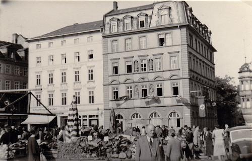 Unidentified German town. Marktplatz. 1930s.