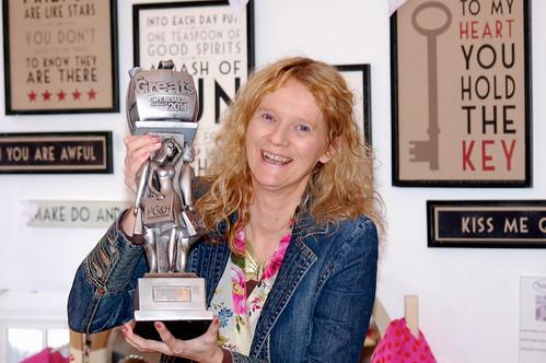Allison Brook of Tiger Tiger with her award