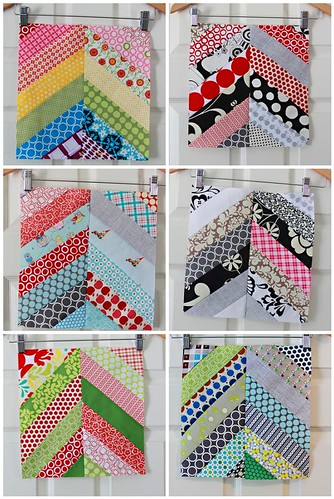 3x6 Quilting Bee  - Herringbone blocks