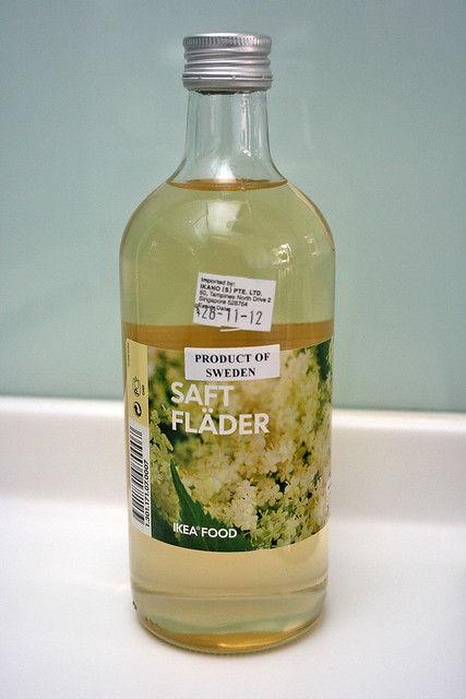 Elderflower drink concentrate, available from IKEA