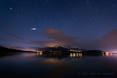 Iridium Flare Over Lake Dillon (Fort Photo) Tags: longexposure mountain lake mountains nature night stars landscape rockies star evening nikon colorado nightscape streak space satellite peak reservoir alpine astrophotography flare co summit dillon astronomy rockymountains keystone range iridium shootingstar lakedillon iridiumflare tenmilerange nikon1735 d700 platinumheartaward Astrometrydotnet:status=failed notreallyashootingstar prospectorcampground Astrometrydotnet:id=alpha20110643525906