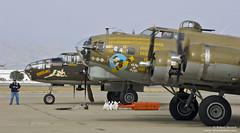 B-17 & B-25 (Bob Stronck) Tags: vintage restored bomber flyingfortress moffettfield mountainviewca b17g nineonine tondelayo heavybomber b25jmitchell wwiiwarplanes ©rmstronck stronckphotocom collingsfoundationcollection