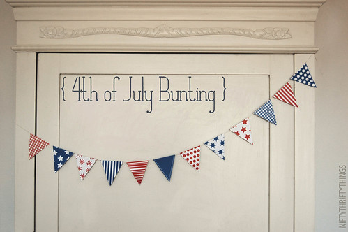 {free printable: 4th of july bunting & flags}