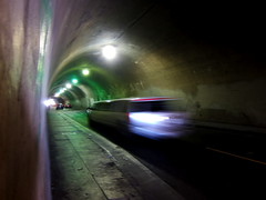 3rd Street Tunnel (tobysx70) Tags: california ca street toby motion blur digital canon la los downtown traffic angeles tunnel limo stretch powershot hancock dtla limousine 3rd s90 canonpowershots90 canons90 tobyhancock