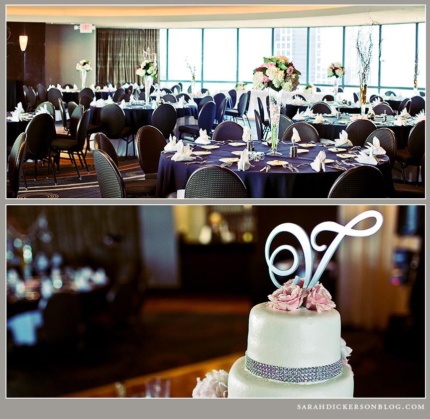 Crowne Plaza Kansas City wedding reception photographs