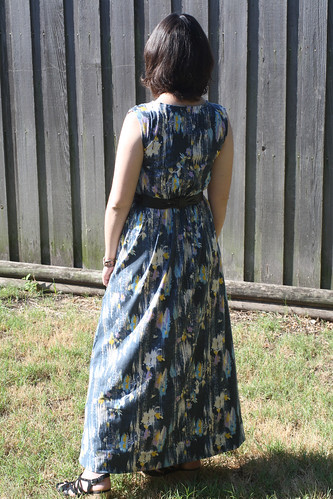 Abstract Floral Maxi Dress