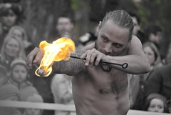 Do not play with fire... (Scilla sinensis) Tags: fire artist fireeater barndom varning fotosondag fs140504