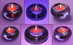 Mauve Variations (Gillian Everett) Tags: collage candle mosaic mauve candleholder