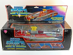 Vintage Chinese Tin Toy  Battery Operated  Ship Space  Box Front (My Toy Museum) Tags: toy tin ship space air chinese battery blow spaceship operated