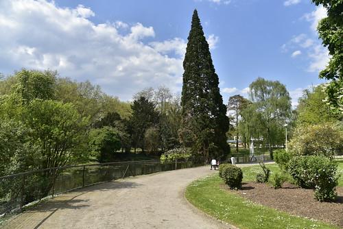 Chemin le long de l'étang du parc d'Avroy