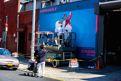 Air France (Always Hand Paint) Tags: airfrance airfranceprogress b154 ooh outdoor colossalmedia alwayshandpaint skyhighmurals advertising colossal handpaint mural muraladvertising streetlevel photorealism traveltourism colorful engagement