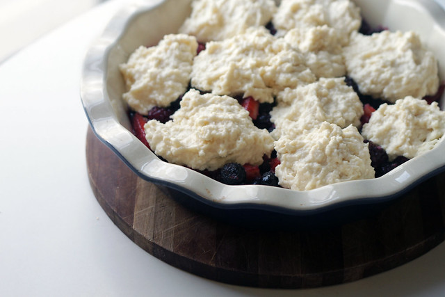 Buttermilk Wild-Berry Cobbler
