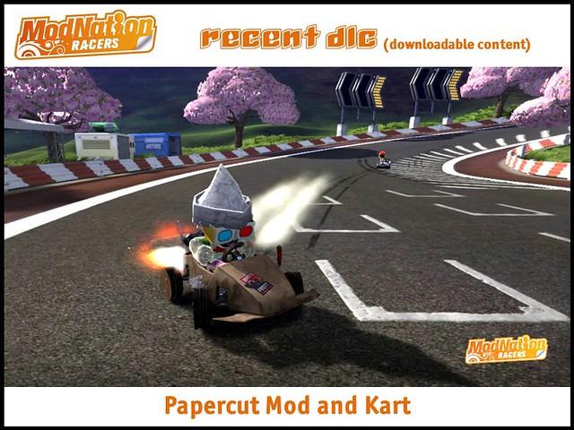 ModNation Racers recent DLC: papercut