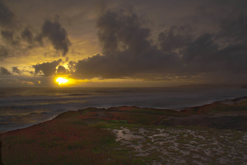 Sunset over Big Sur HDR