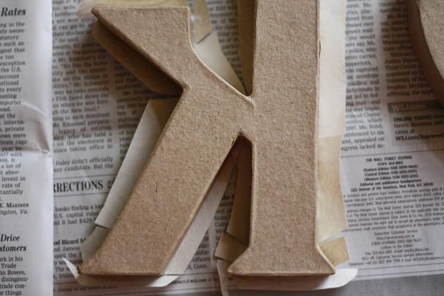 Paper Mache Letters 2