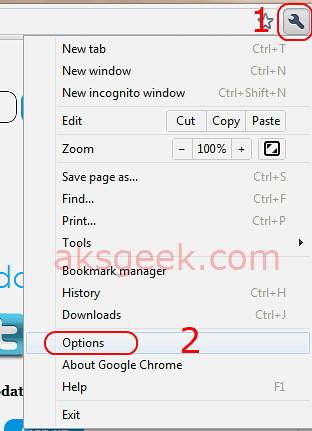 Google Chrome-options