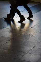 in step (donvucl (busy, slow catch-up)) Tags: feet reflections shadows tandem instep donvucl compositiont