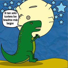 Rex y las Estrellas (:::JuanSe:::) Tags: estrellas rex dibujo ilustracion tiranosaurio