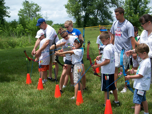 Lifetime Wellness camp archery