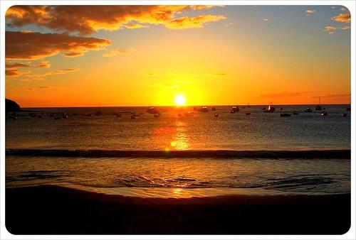 Sunset in San Juan del Sur Nicaragua