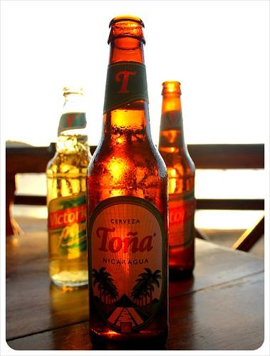 Tona Victoria Frost Beer San Juan del Sur Nicaragua