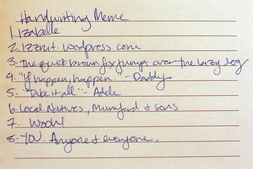 Handwriting Meme