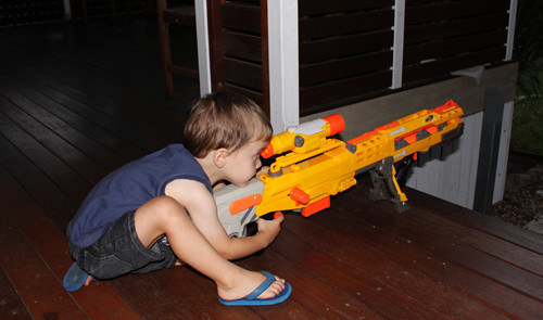 Nerf wars and the boy
