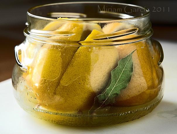 Salt curing lemons